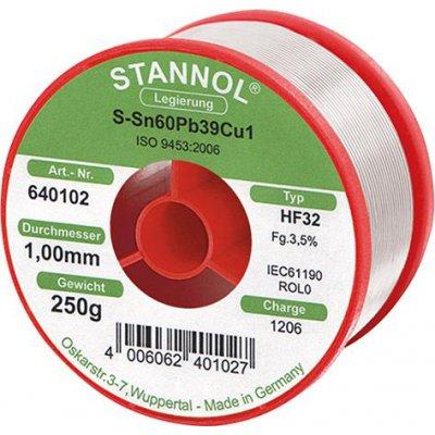 Pájecí drát na elektronické moduly 640102 250g O1mm Stannol