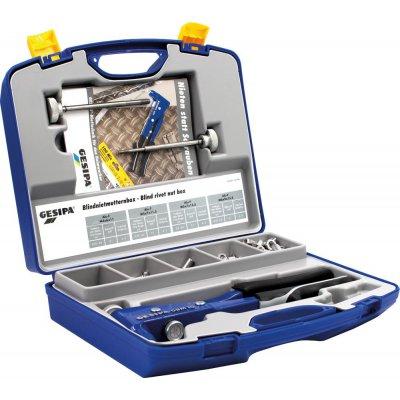 Box matice pro trhací nýty a usazovačka matic trhacích nýtů GBM 10 M4-M6 195 ks. GESIPA