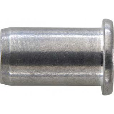 Matice na trhací nýty, hliník plochá kulatá hlava M4x6x13mm GESIPA
