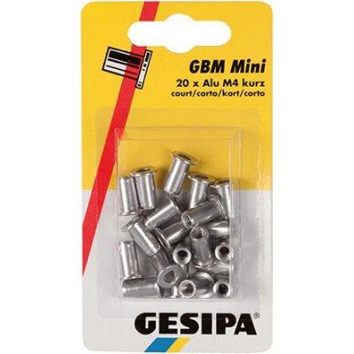 Matice na trhací nýty, hliník mini balení M4 krátké GESIPA