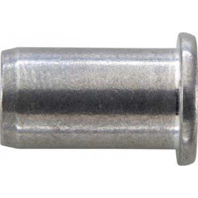 Matice na trhací nýty, INOX VA plochá kulatá hlava M4x6x13mm GESIPA