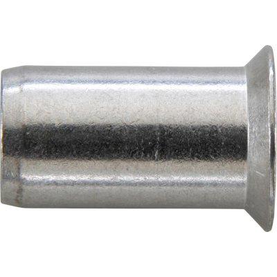 Matice na trhací nýty, INOX A2 zápustná hlava 90° M6x9x18,5mm GESIPA