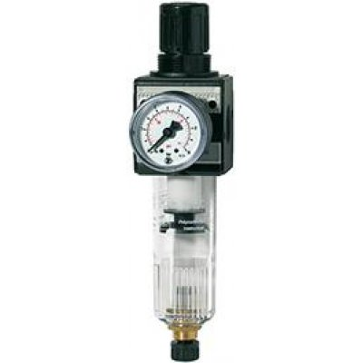 "Regulátor tlaku s filtrem, multifix a manometr BG3 0,5-10bar G1/2"" RIEGLER"