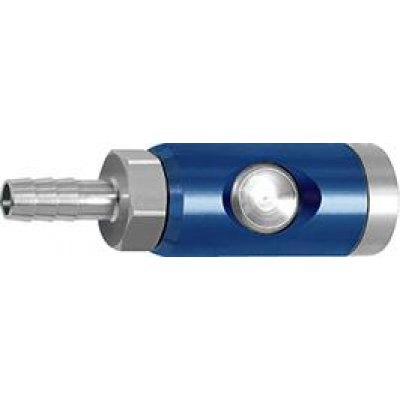 Bezpečnostní spojka a tlačítko otočné 7,4mm průchodka, hadice, vnitřní O 6mm RIEGLER