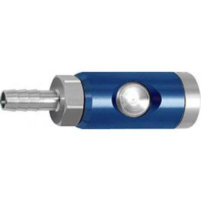 Bezpečnostní spojka a tlačítko otočné 7,4mm průchodka, hadice, vnitřní O 9mm RIEGLER
