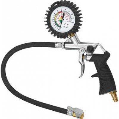 Měřič tlaku pneumatik a páková vsuvka, nekalibrovaná 0-12bar RIEGLER