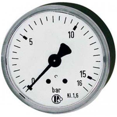 """Manometr, na zadní straně centrický 50mm 0-10bar G1/4"""" RIEGLER"""
