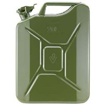 Kanystr na palivo ocelový plech, jmenovitý obsah 20l olivový Valpro