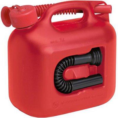 Kanystr na palivo premium, plast jmenovitý obsah 5l, červený Hünersdorff