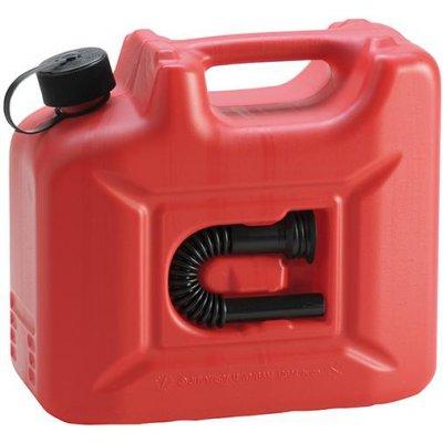 Kanystr na palivo Profi plast, jmenovitý obsah 10l červený Hünersdorff