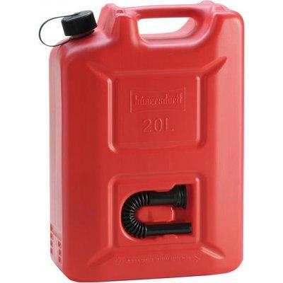 Kanystr na palivo Profi plast, jmenovitý obsah 20l červený Hünersdorff