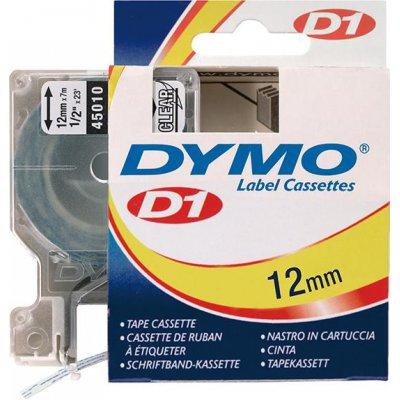 Popisovací páska D1 45010 černá/průhledná 12mmx7m DYMO
