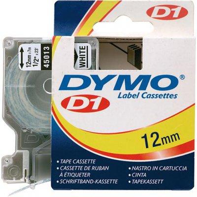 Popisovací páska D1 45013 černá/bílá 12mmx7m DYMO