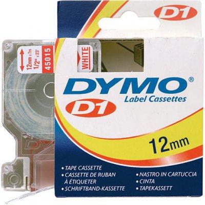 Popisovací páska D1 45015 červená/bílá 12mmx7m DYMO