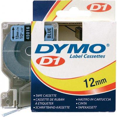 Popisovací páska D1 45016 černá/modrá 12mmx7m DYMO