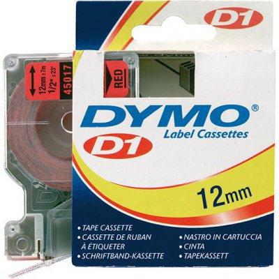 Popisovací páska D1 45017 černá/červená 12mmx7m DYMO