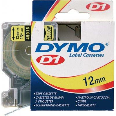 Popisovací páska D1 45018 černá/žlutá 12mmx7m DYMO