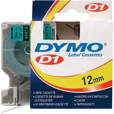 Popisovací páska D1 45019 černá/zelená 12mmx7m DYMO