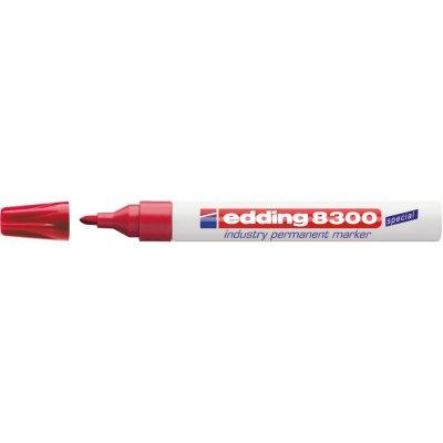 Průmyslový permanentní popisovač 8300 červená edding
