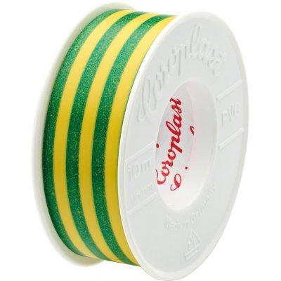 Izolační páska 302 10mx15mm zelená/žlutá Coroplast