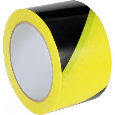Výstražná značící páska PVC samostaně lepicí 60 mm x 66 m žlutá/černá