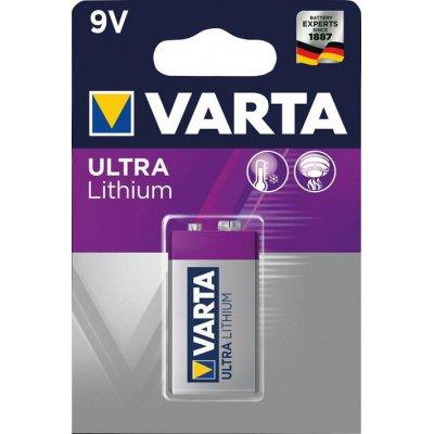 Baterie Professional Lithium 9V e-block 1 kus v blistr balení VARTA