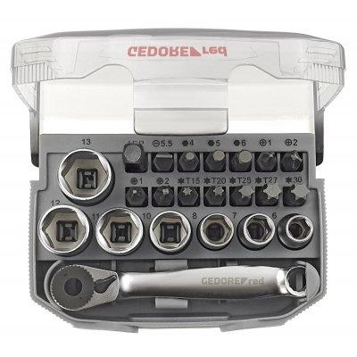 Sada nástrčných klíčů 1/4 klíčový otvor 6-13 mm + bity 23 dílů Gedore RED