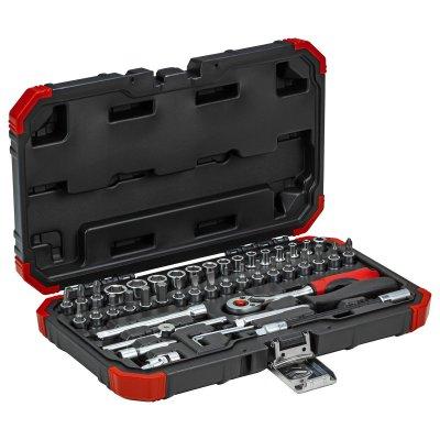 Sada nástrčných klíčů 1/4 klíčový otvor 4-14mm 46 dílů Gedore RED