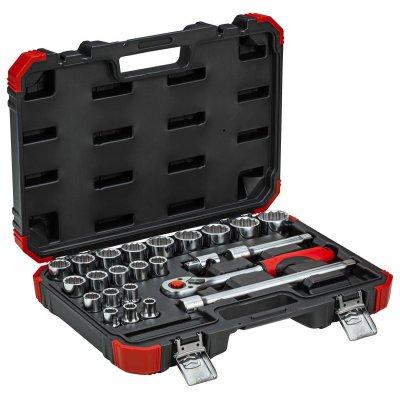 Sada nástrčných klíčů 1/2 klíčový otvor 10-32mm 24 dílů Gedore RED