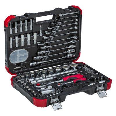 Sada nástrčných klíčů 1/4 + 1/2 92 dílů Gedore RED