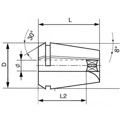 Kleština 4hran ER20-11,0x9,0 FORTIS - pre214818.jpg