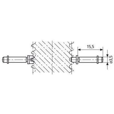 """Vložka pro závitový Mikrometr na měření drážek P14-10 rozměr 1"""" MAHR"""