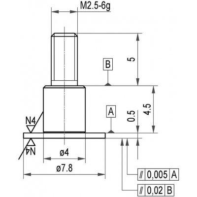 Měřicí snímač ocel talíř 7,8x0,5mm KÄFER