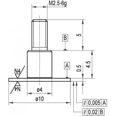 Měřicí snímač ocel talíř 10x0,5mm KÄFER