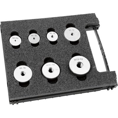 Sada závitové kalibry kroužky (zmetkový díl) 6g M3-M12 FORMAT