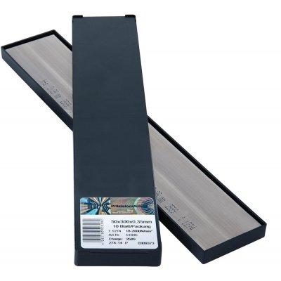 Kovové fólie v deskách nerez 50x300x0,20mm 10Bl/P H+S