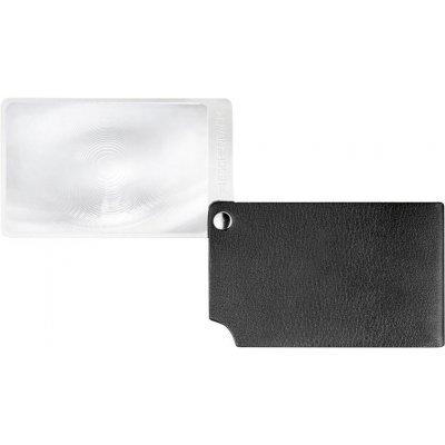 Lupa velikost kreditní karty, černá visoPOCKET 2,5x kůže ESCHENBACH