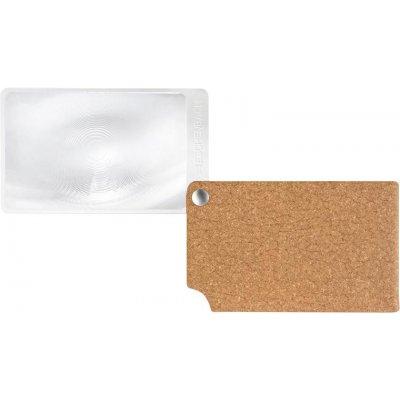 Lupa velikost kreditní karty, hnědá visoPOCKET 2,5x kůže ESCHENBACH