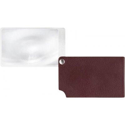 Lupa velikost kreditní karty, červená visoPOCKET 2,5x kůže ESCHENBACH