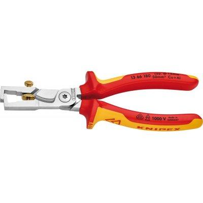 Odizolovací / kabelové nůžky VDE a vícesložkové návleky 180mm qmm KNIPEX