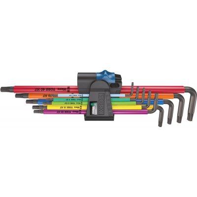 Sada inbusové klíče dlouhé, přídržná funkce, Color, 9 ks. Wera