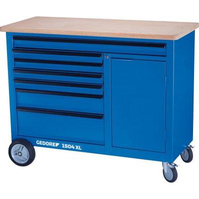Pojízdný pracovní stůl XL, přihrádka a 6 zásuvek GEDORE