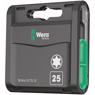 Box s bity 20H, 20 ks. Bity T25x25mm Wera