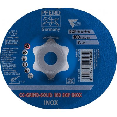 Brusný kotouč CC-GRIND Solid SGP INOX 180mm PFERD