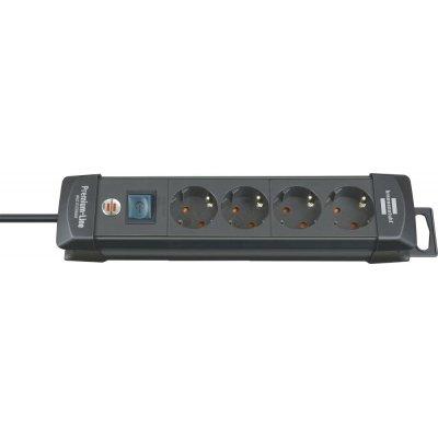 Zásuvková lišta Premium 4 zásuvek H05VV-F3G1,5 1,8m brennenstuhl