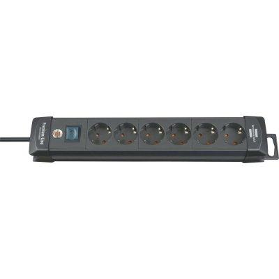 Zásuvková lišta Premium 6 zásuvek H05VV-F3G1,5 3m brennenstuhl
