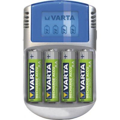 Nabíječka baterií LCD Charger na 4 aku AA/AAA s 4 Aku AA 2700mAh, adaptér 12V, Kabel USB VARTA