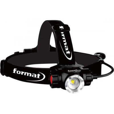 Aku LED čelová svítilna 900lm FORMAT