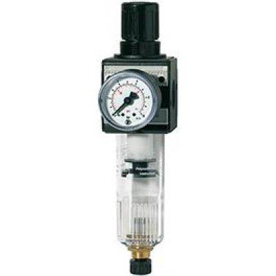 "Regulátor tlaku s filtrem, multifix a manometr BG5 0,5-10bar závit 1."" RIEGLER"