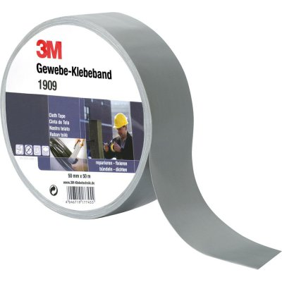 Textilní lepicí páska 1909 48mmx50m stříbrné barvy 3M